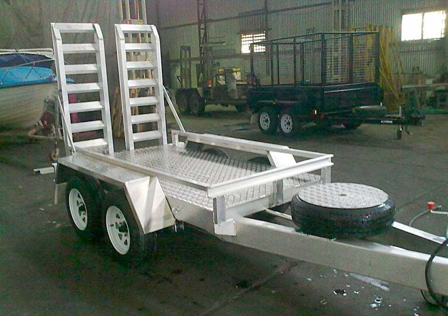 2t aluminium scissor lift trailer