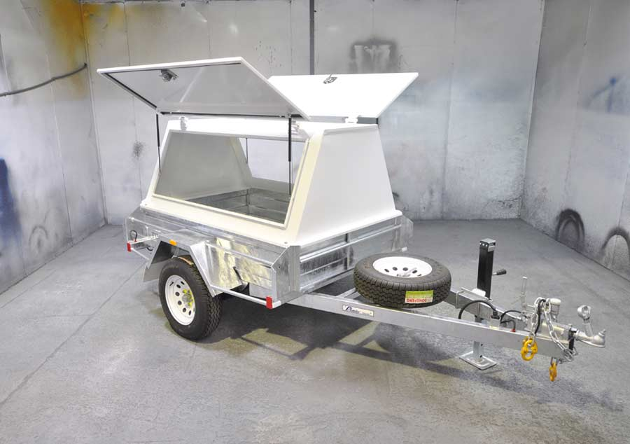 7x4 tradesman trailer with galvanised body