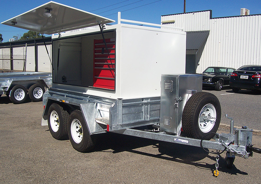 8x5 tandem tradesman's trailer with a hot dip galvanised body